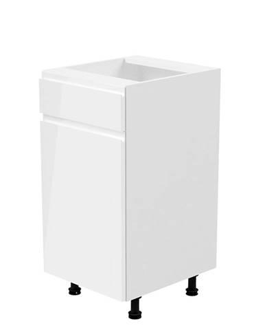 Spodná skrinka biela/biela extra vysoký lesk ľavá AURORA D40S1