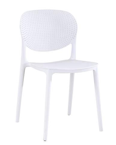 Stohovateľná stolička biela FEDRA