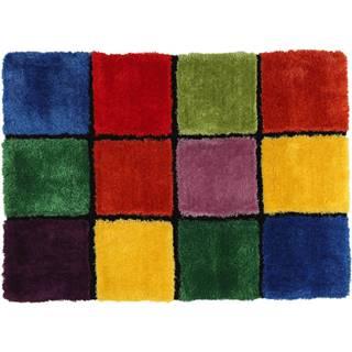 Koberec červená/zelená/žltá/fialová 100x140 LUDVIG TYP 4