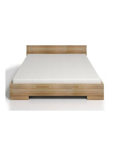 Dvojlôžková posteľ z bukového dreva s úložným priestorom SKANDICA Spectrum Maxi, 160×200cm