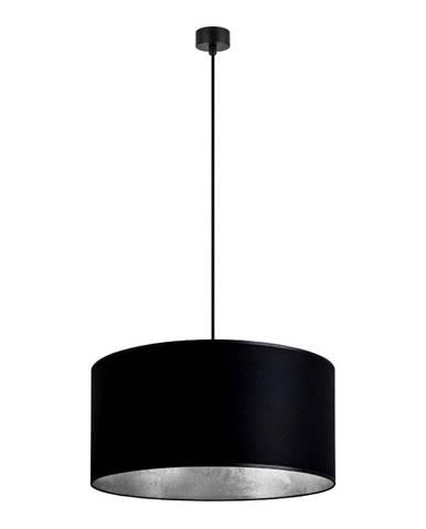 Čierne závesné svietidlo s vnútrom v striebornej farbe Sotto Luce Mika, ∅ 50 cm