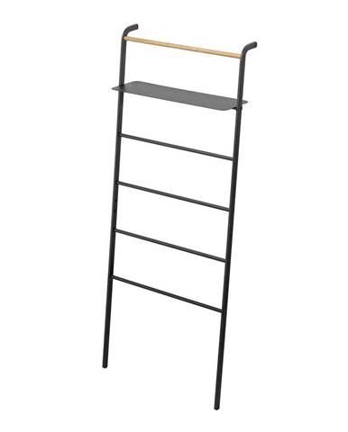 Čierny vešiak s poličkou YAMAZAKI Tower Ladder