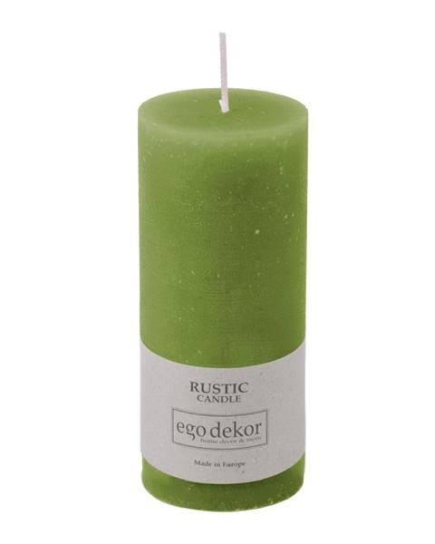Baltic candles Zelená sviečka Rustic candles by Ego dekor Rust, doba horenia 58 h