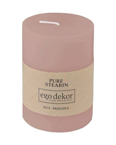 Púdrovoružová sviečka Eco candles by Ego dekor Friendly, doba horenia 37 h
