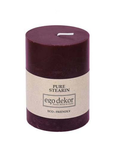 Vínovočervená sviečka Eco candles by Ego dekor Friendly, doba horenia 37 h