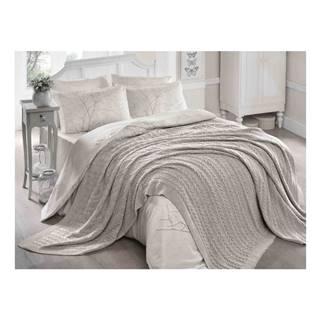 Sivobéžová deka Homemania Larina, 220×240 cm
