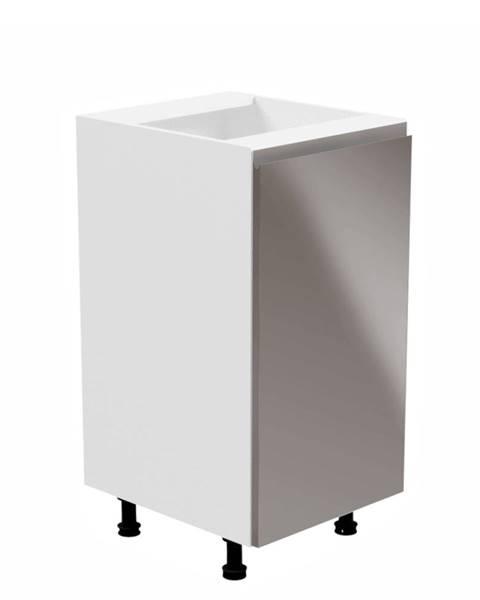 Kondela Spodná skrinka biela/sivá extra vysoký lesk pravá AURORA D40