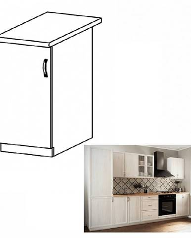 Dolná skrinka D30 ľavá biela/sosna Andersen SICILIA