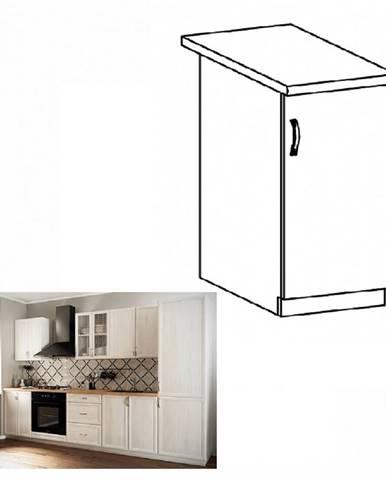 Dolná skrinka D40 pravá biela/sosna Andersen SICILIA