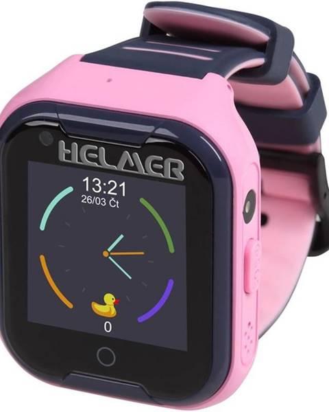 Helmer Inteligentné hodinky Helmer LK709 dětské s GPS lokátorem ružový