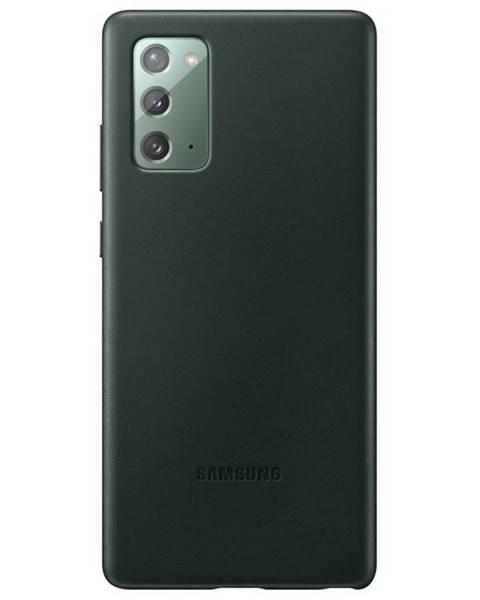 Samsung Kryt na mobil Samsung Leather Cover na Galaxy Note20 zelený