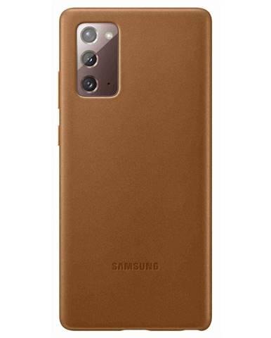 Kryt na mobil Samsung Leather Cover na Galaxy Note20 hnedý
