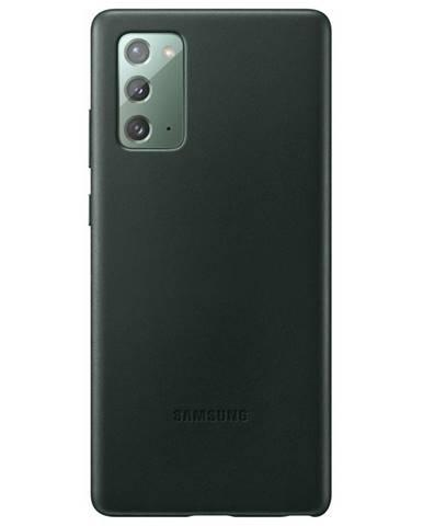 Kryt na mobil Samsung Leather Cover na Galaxy Note20 zelený