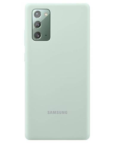 Kryt na mobil Samsung Silicone Cover na Galaxy Note20 zelený
