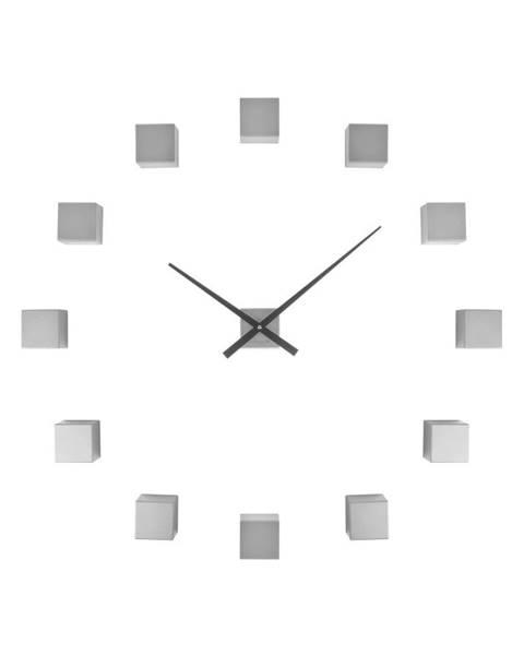 Karlsson Nástenné hodiny stireborné farby Karlsson Do It Yourself