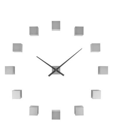 Nástenné hodiny stireborné farby Karlsson Do It Yourself