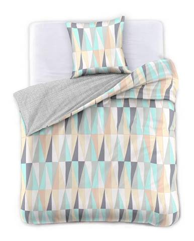 Obliečky z bavlneného saténu DecoKing Pastel Love, 135 x 200 cm