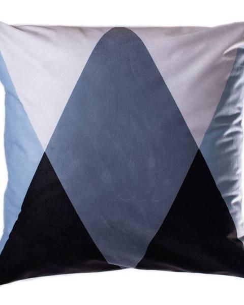 JAHU Modro-sivý vankúš JAHU Geometry Triangle, 45 x 45 cm