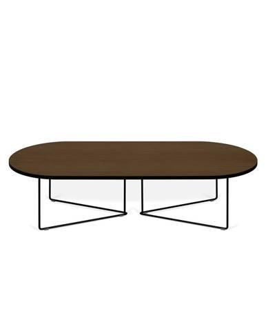 Konferenčný stolík s orechovou dyhou TemaHome