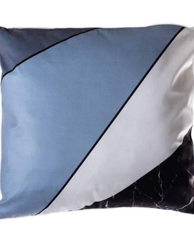 Modro-sivý vankúš JAHU Geometry Stripes, 45 x 45 cm