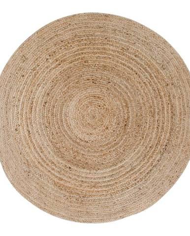Svetlohnedý okrúhly koberec HoNordic Bombay, ø 180 cm