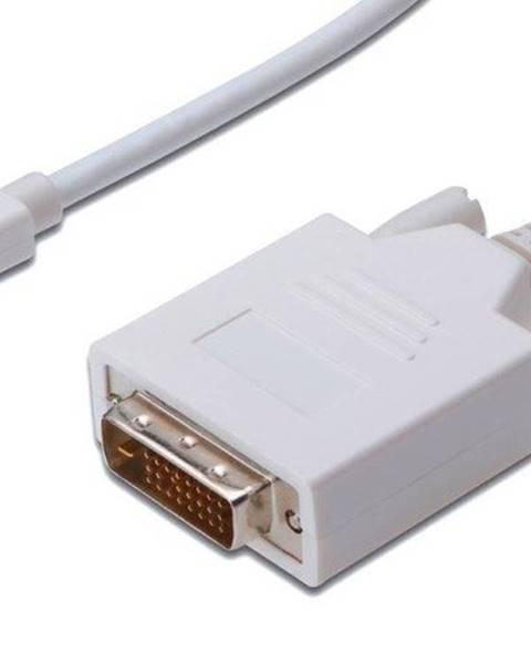 PremiumCord Kábel PremiumCord Mini DisplayPort / DVI, M/M, 2m biely