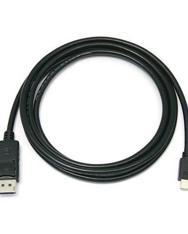 Kábel PremiumCord Mini DisplayPort / DisplayPort, M/M, 1m čierny