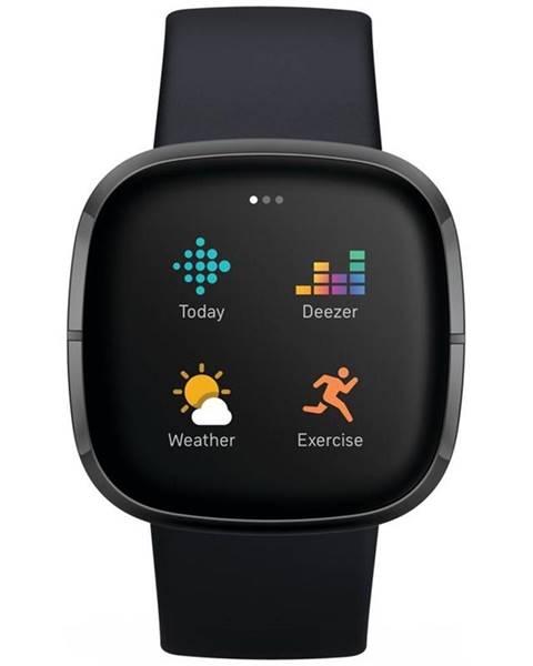 Fitbit Inteligentné hodinky Fitbit Sense - Carbon/Graphite Stainless Steel