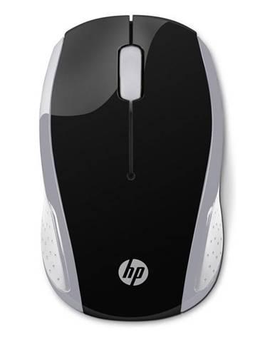 Myš  HP 200 čierna/strieborná