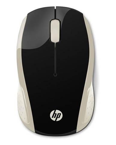 Myš  HP 200 čierna/zlatá