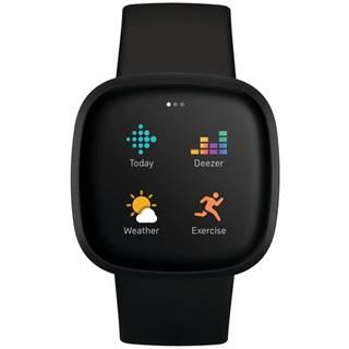Inteligentné hodinky Fitbit Versa 3 - Black/Black Aluminum