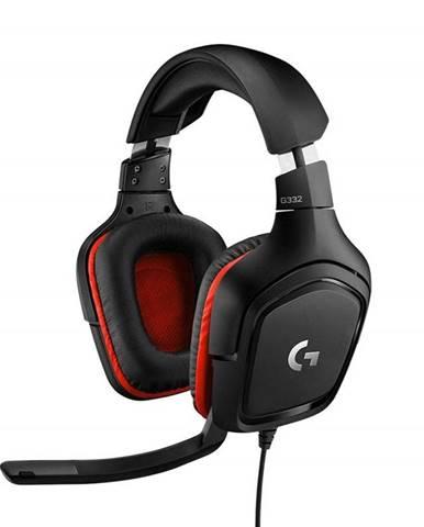 Headset  Logitech Gaming G332 čierny/červený