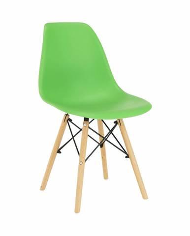 Stolička zelená/buk CINKLA 3 NEW