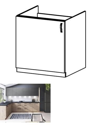 Drezová skrinka dub artisan ľavá LANGEN D60Z