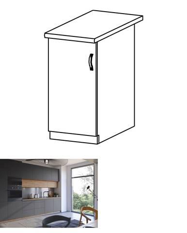 Spodná skrinka dub artisan/sivý mat ľavá LANGEN D40