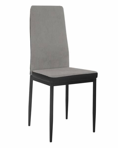 Tempo Kondela Jedálenská stolička svetlosivá/čierna ENRA rozbalený tovar