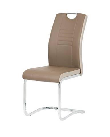 Jedálenská stolička ASHLEY hnedobéžová