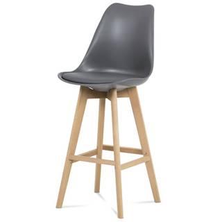 Barová stolička JULIETTE sivá/buk