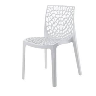 Jedálenská stolička GRUVYER biela