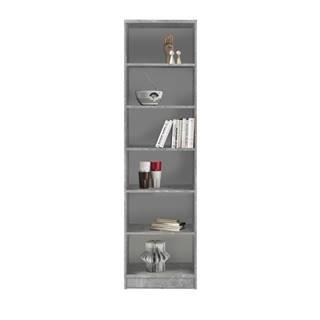Regál/knižnica OPTIMUS 35-015 beton/biela