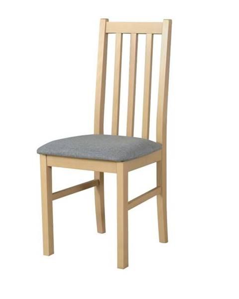 Sconto Jedálenská stolička BOLS 10 svetlosivá/dub sonoma