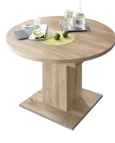 Sconto Jedálenský stôl RUND 104 1010 dub sägerau