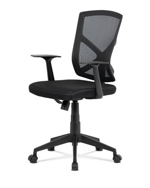 Sconto Kancelárska stolička NORMAN čierna