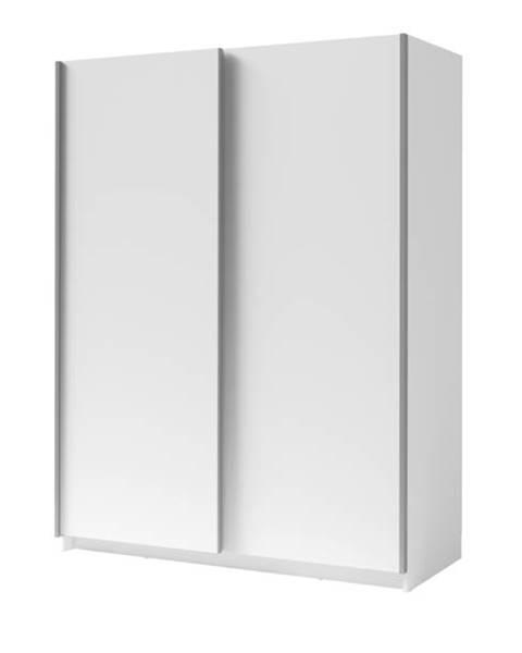 Sconto Šatníková skriňa SPLIT biela, šírka 150 cm