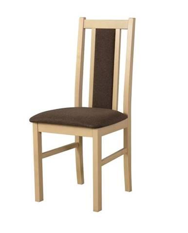 Jedálenská stolička BOLS 14 hnedá/dub sonoma