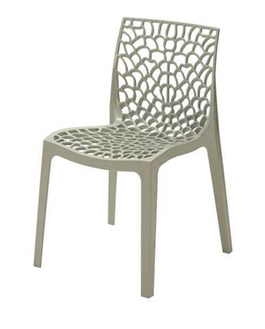 Jedálenská stolička GRUVYER sivá