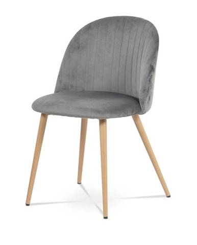 Jedálenská stolička KAISA dub/sivá