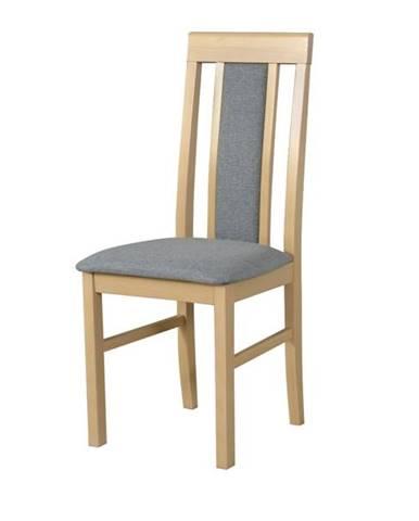Jedálenská stolička NILA 2 svetlosivá/dub sonoma