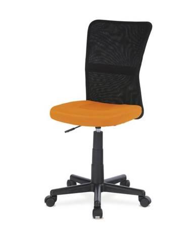 Kancelárska stolička BAMBI oranžová/čierna