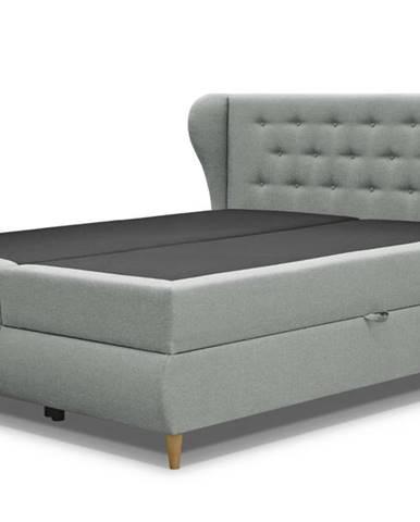 Posteľ s roštom a matracom FABBY sivá, 180x200 cm